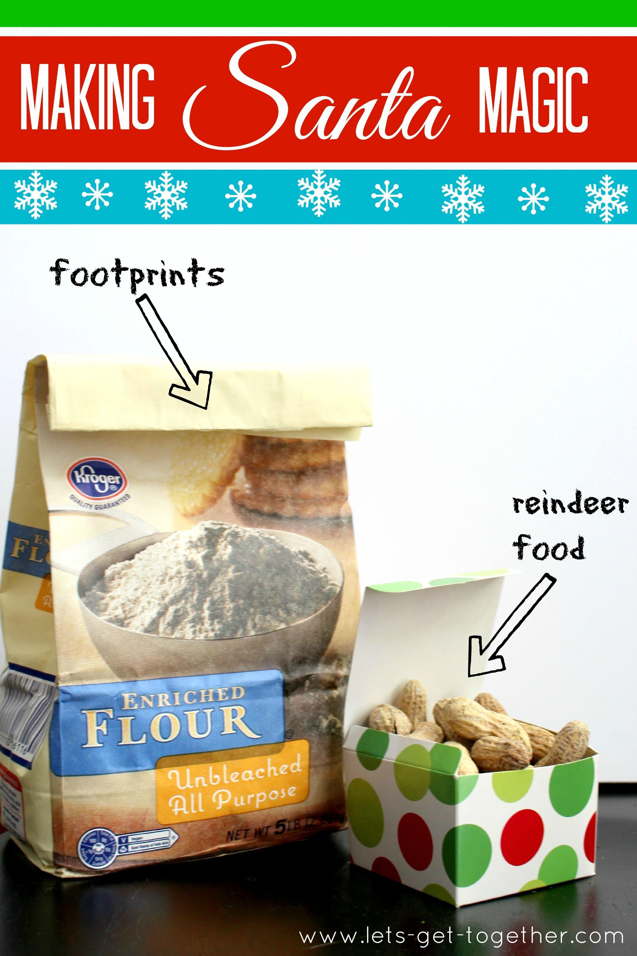 Making Santa Magic: Santa Footprints & Reindeer Food | Reindeer food ...