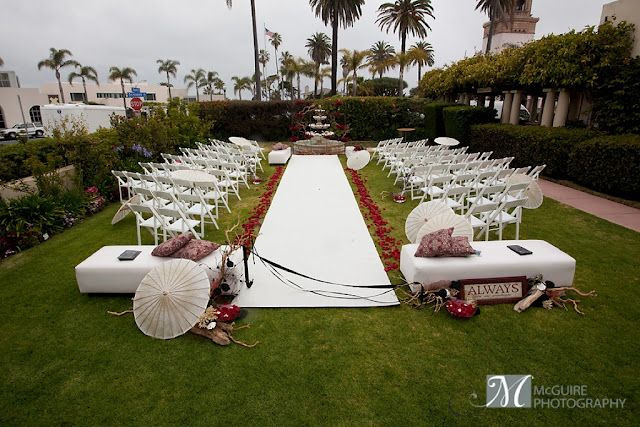 Wedding Ceremony Site At La Jolla