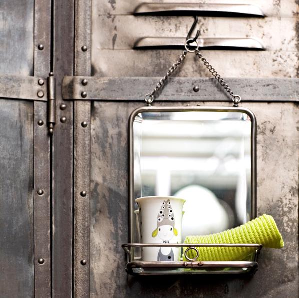 petit miroir rtro retro small mirror serendipity serendipity - Tablette Retro Salle De Bain