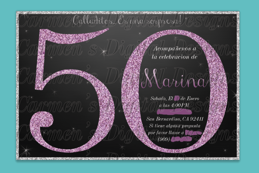 50th Birthday Spanish Per Client Request But Can Be Changed To English As Well Tag A Friend Who Needs This Invitation In Their Life