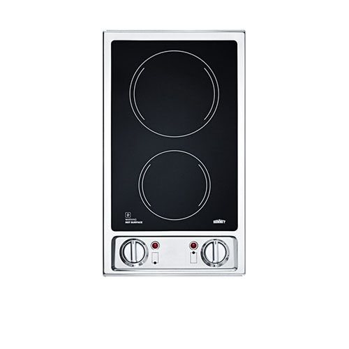 Summit Cr2b120 Electric Cooktop Glass Cooktop Glass