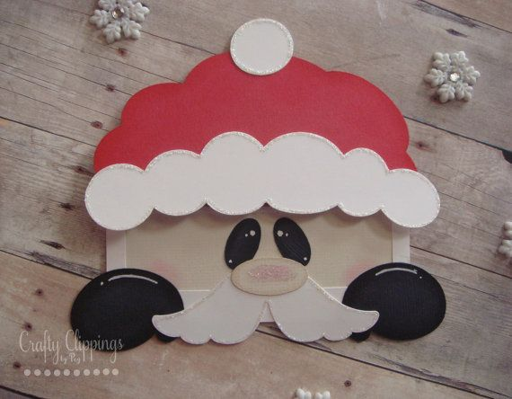 Christmas Gift Card Holder Santa Claus by CraftyClippingsbyPeg