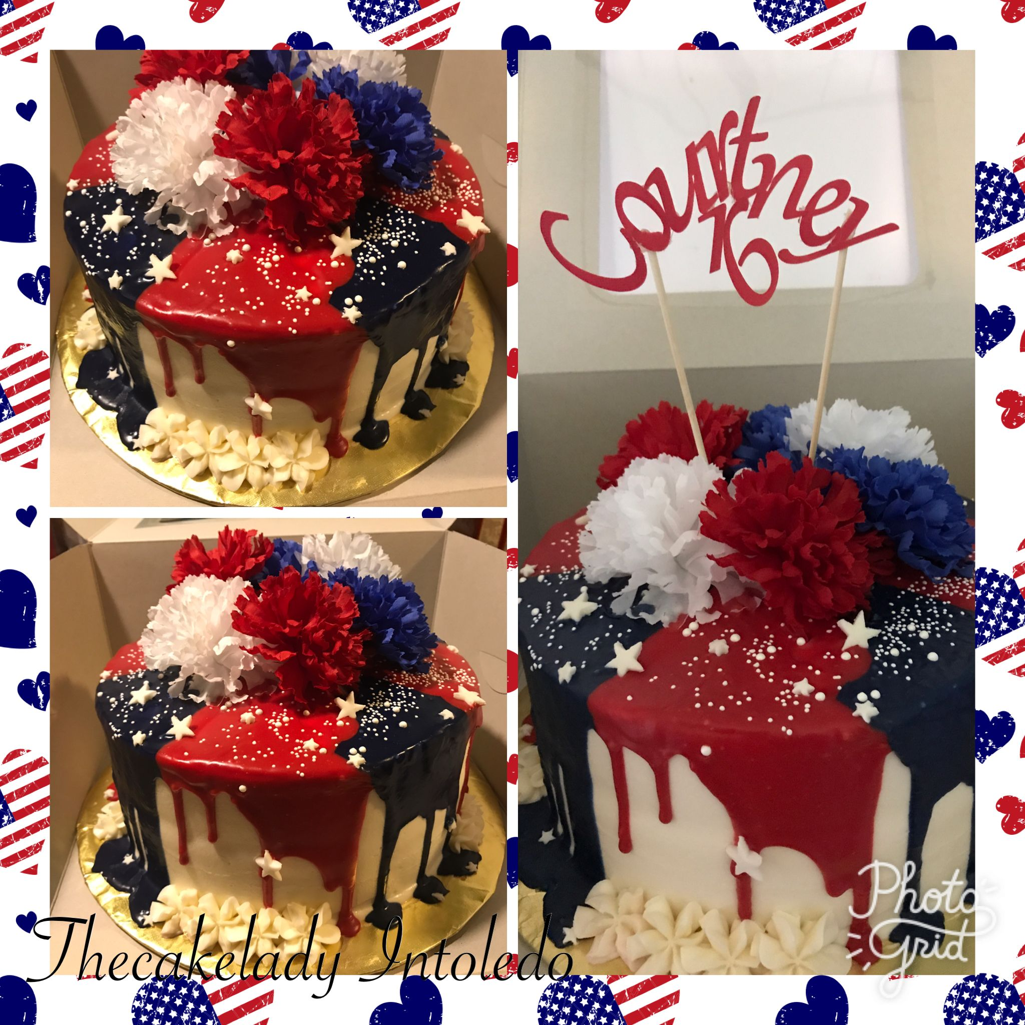 fourth of July sweet 16 cake I made | Things I make ...
