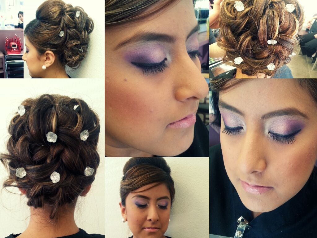 Wedding Hair Makeup Done By Students At Our North Austin Beauty School Bring In