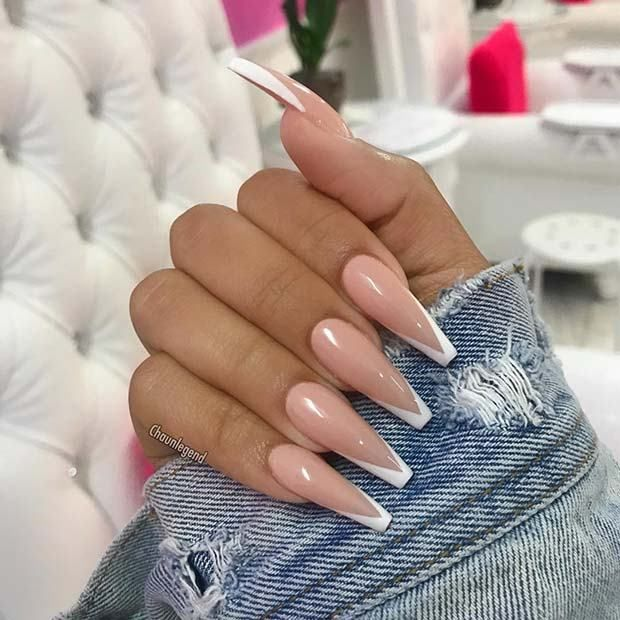 How to Wear Nude Nail Designs This Year #coffinnails