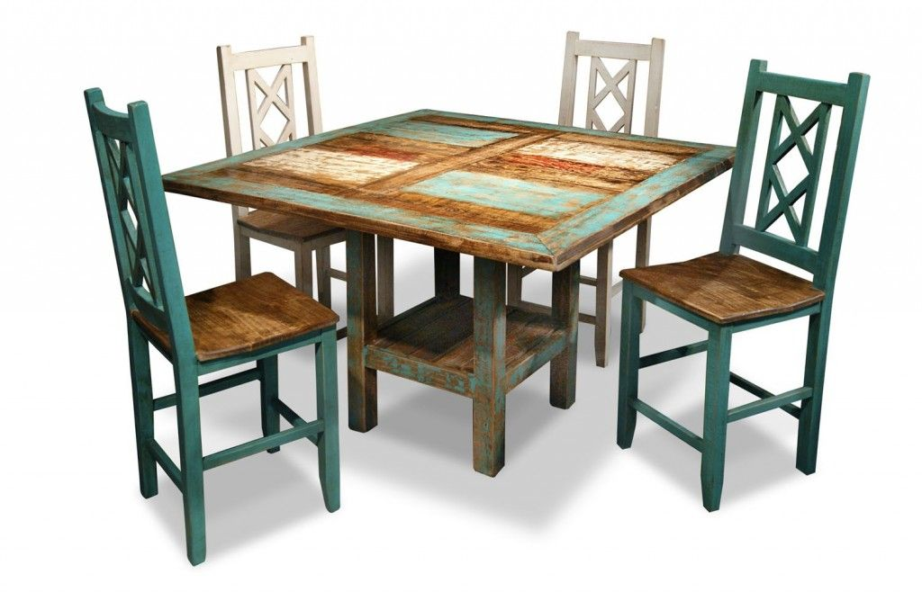 Painted Mexican Furniture Distressed Dinner Table Dining Room