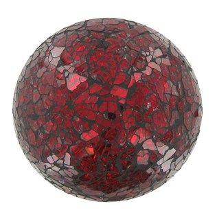 4 Red Glass Mosaic Deco Ball Shop Hobby Lobby Decorative Spheres Mosaic Glass Mosaic