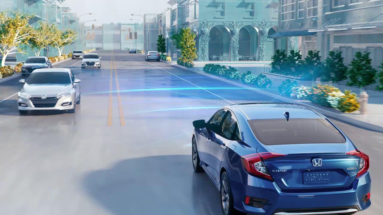 Honda Civic Commercial >> Honda Civic With Honda Sensing Standard Collision
