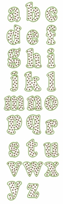 Dots of Fun embroidery font