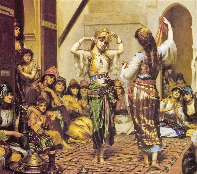Algérie -  Peintre Français Félix de Vuillefroy (1841-1916), huile sur toile, Titre : Une Réception en Algérie
