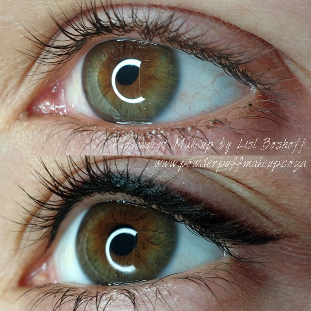 Smokey eyeliner permanent makeup before and after (With