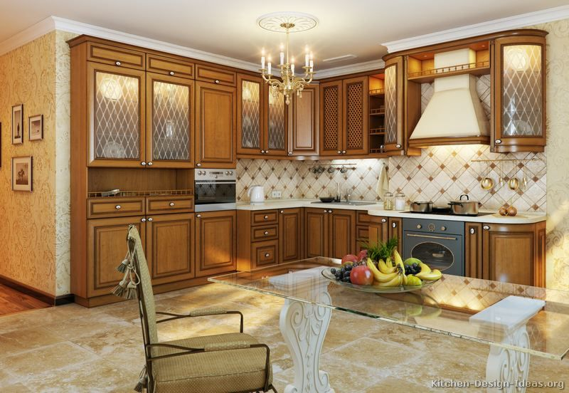 Kitchen Design Ideas For Medium Kitchens traditional medium wood-golden kitchen cabinets #89 (kitchen