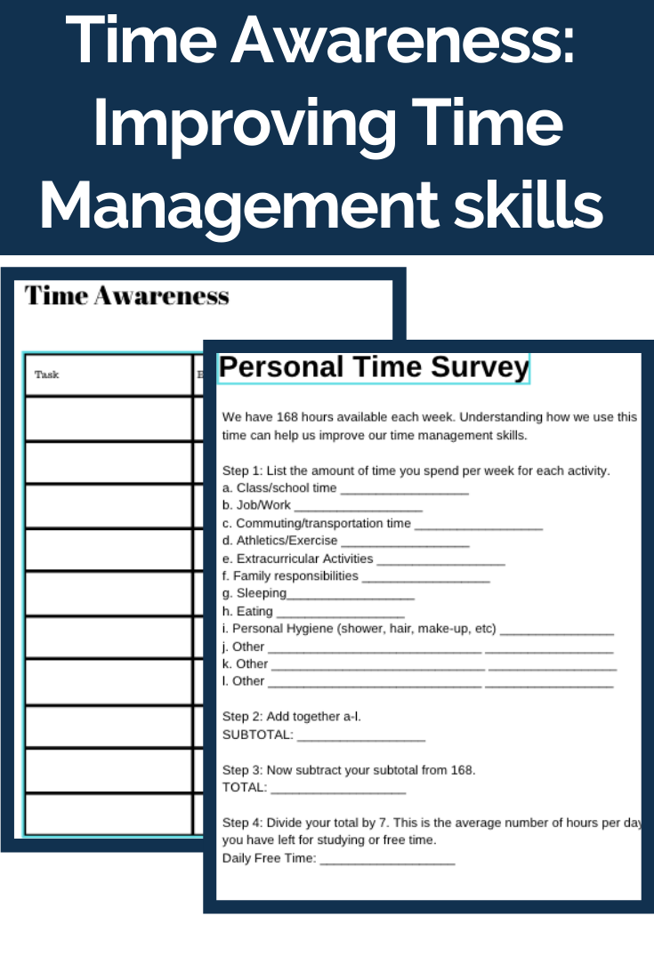 Time Management Skills Personal Time Survey Time Management Skills Time Management Skills