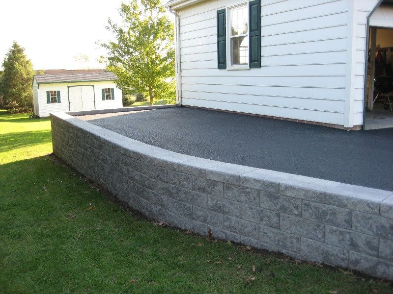 Retaining Wall Installation And Parking And Driveway Expansion