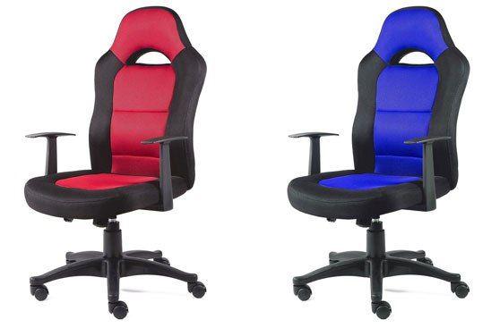 Silla de oficina deportiva giratoria azul o roja | Sillas de ...