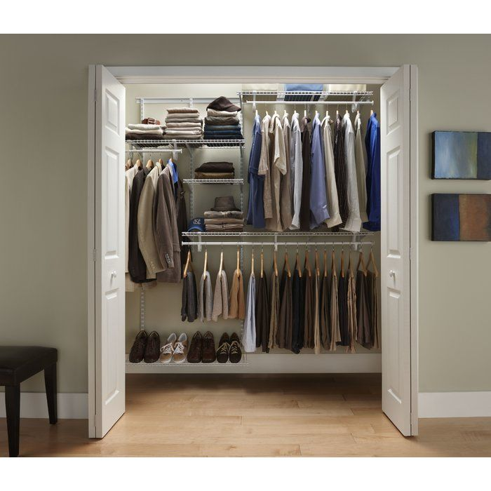 The ClosetMaid ShelfTrack Closet Organizer Kit Offers Configuration And  Shelf Location Adjustability. The ShelfTrack System