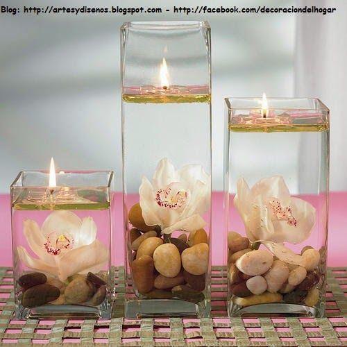 DIY Decora tu Habitación con Velas Flotantes by artesydisenos - centros de mesa para boda con velas flotantes
