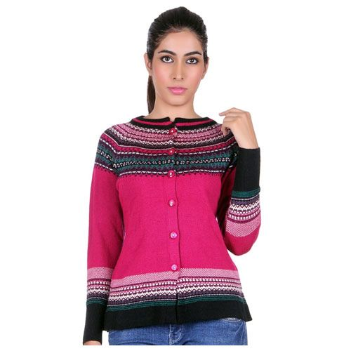 PRICE Rs.999 - Shop now this Pink HK Oswal Pink Woollen Skivvy women  cardigan at real very cheap price only at Findabhi.com. Comfortable b0e60abb6