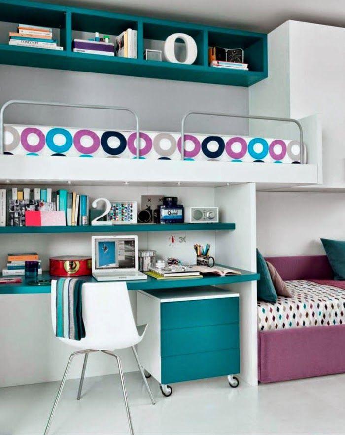 Dormitorios juveniles para dos chicas Teen girl\u0027s bedroom idea