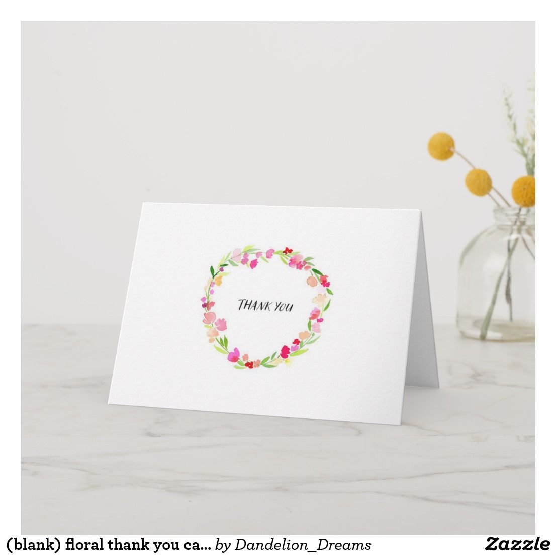 (blank) Floral Thank You Cards