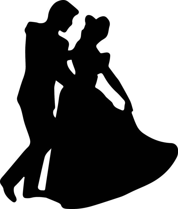 Cinderella And Prince Charming Silhouette Instant Download