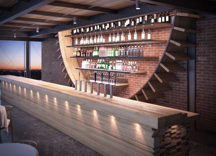 pin von the cool hunter auf bars restaurants pinterest bar ideen tresen und theken. Black Bedroom Furniture Sets. Home Design Ideas