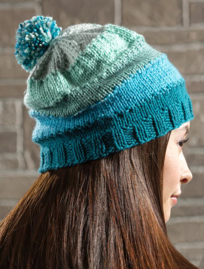 e464689dd12 ... hat – Free Knitting Pattern. Premier® Gradient Knit Cap