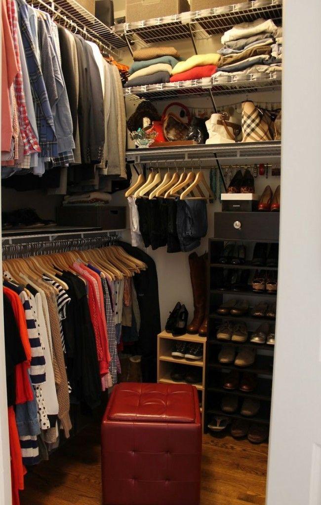 genius small walk in closet makeover for master bedroom ideas rh pinterest com