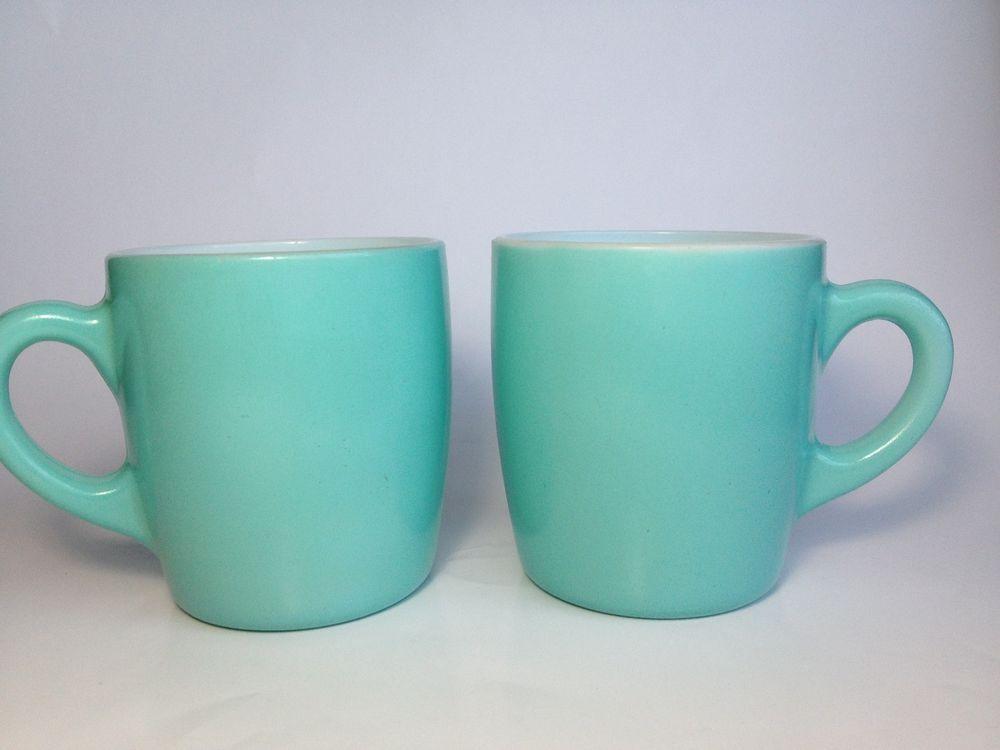 Blue Gl Coffee Mugs The Table