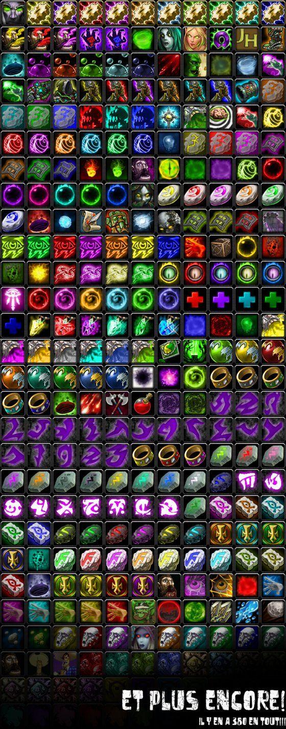 Icon List World of Warcraft by TSG-Arakara   Blizzard