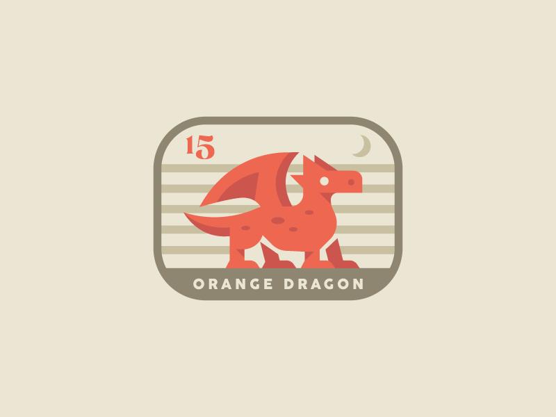 Orange Dragon by Defaced