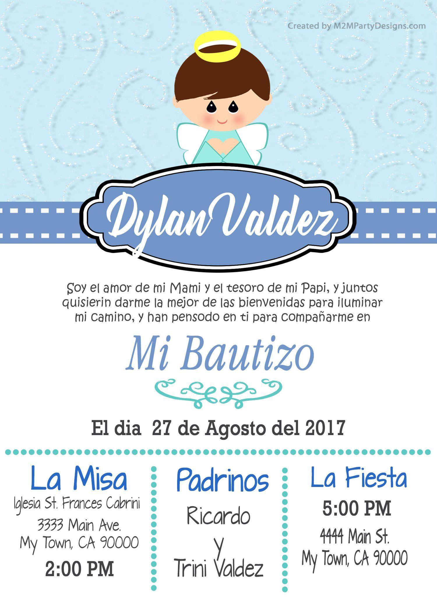 Tarjetas De Bautizo Invitaciones De Bautismo Recuardos