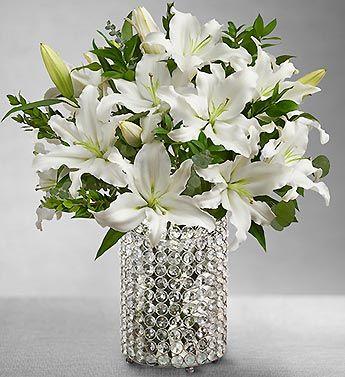 Casablanca Lilies Favorite Flower Don T Like Roses Any Color Ever The Scent Li White Lily Bouquet Beautiful Bouquet Of Flowers Flower Vase Arrangements