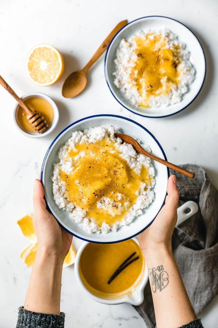 Nordischer Milchreis mit gewürzter Orangensauce & Vanille · Eat this! Foodblog • Vegane Rezepte • Stories