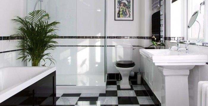 BEFORE and AFTER: An Art Deco-Inspired Bathroom Makeover.