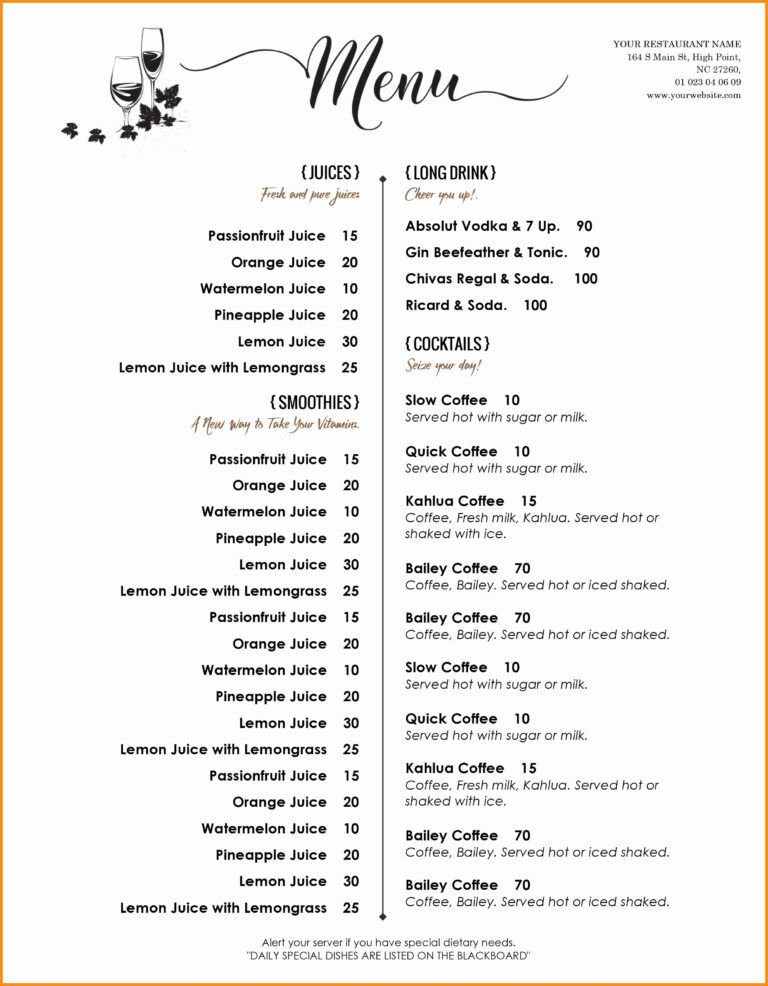 002 Menu Template Free Word Ideas Del Ray Imposing Weekly Pertaining To Free Cafe Menu Tem Free Menu Templates Printable Menu Template Restaurant Menu Template