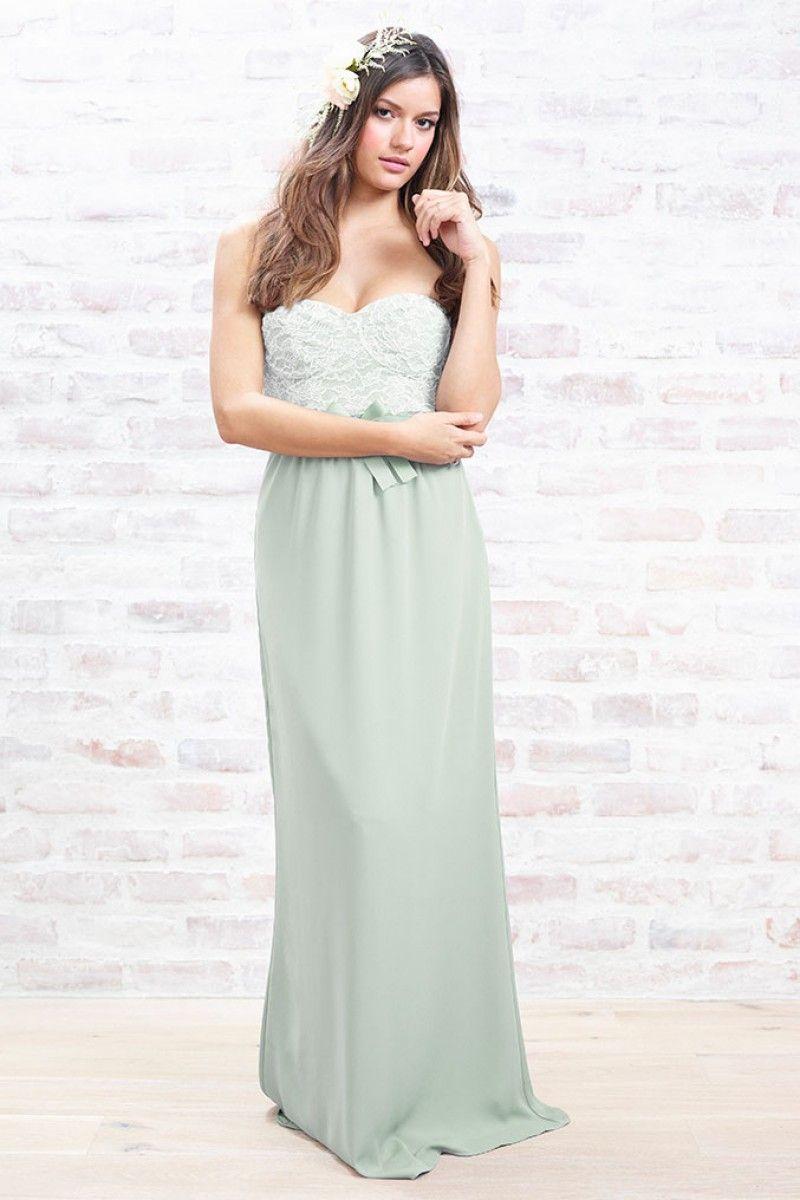 Hannah Dress dusty aqua crepe | Bridesmaid look | Pinterest | Wedding