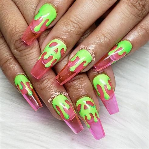 poison apple jelly nails chromenails  jelly nails