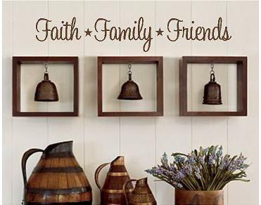 Faith Family Friends Vinyl Lettering Wall Words Graphics Home Decor Itswritteninvinyl