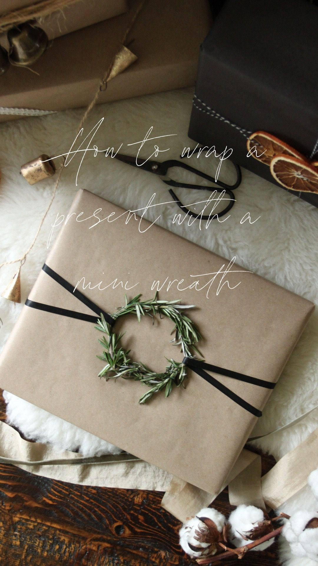 Photo of Wrapping with a Rosemary Wreath