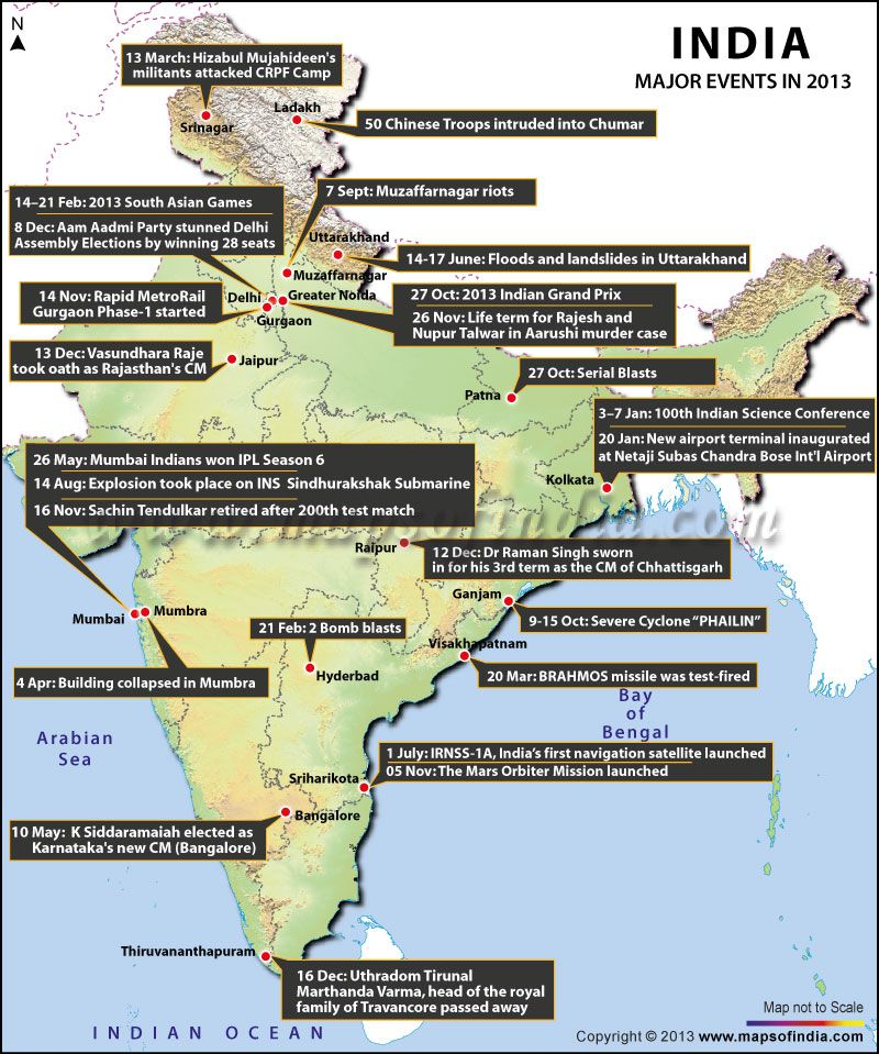 2013 Events Map Major events, Event, South asian games