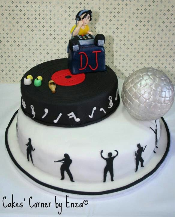 Disco And DJ Theme Cake DecoratingRecipes Pinterest Cake Fascinating Mini Disco Ball Cake Decoration