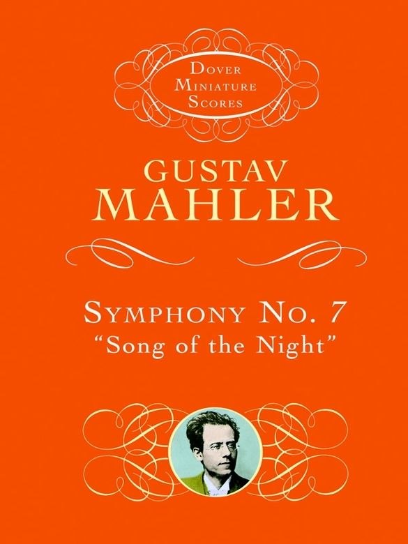 Symphony No. 7 by Gustav Mahler  Mahler's seventh symphony ranks among the composer's most popular and accessible works. Possessing neither a 'program' nor a folk-song theme, it is a purely instrumental composition, both hopeful and romantic in mood, with a harmonic and stylistic structure that evokes the daily journey from dusk till dawn. This miniature score is reproduced from an authoritative edition, complete with numbered movements for easy reference. Affordable and compact, it...