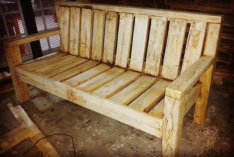 Diy Recycled Wood Pallet Bench Plan Canape Palette Banc En Palette Canape Jardin