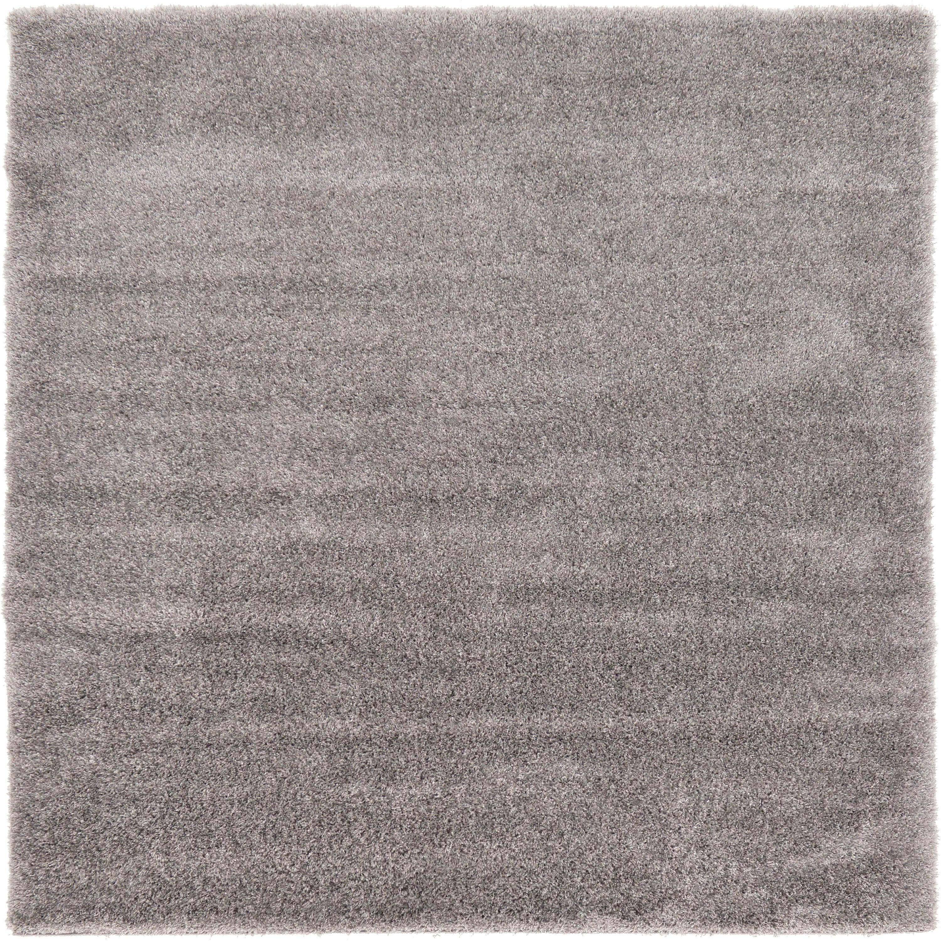 Gray 8 X 8 Luxe Solid Shag Square Rug Area Rugs Esalerugs Square Rugs Area Rugs Rugs