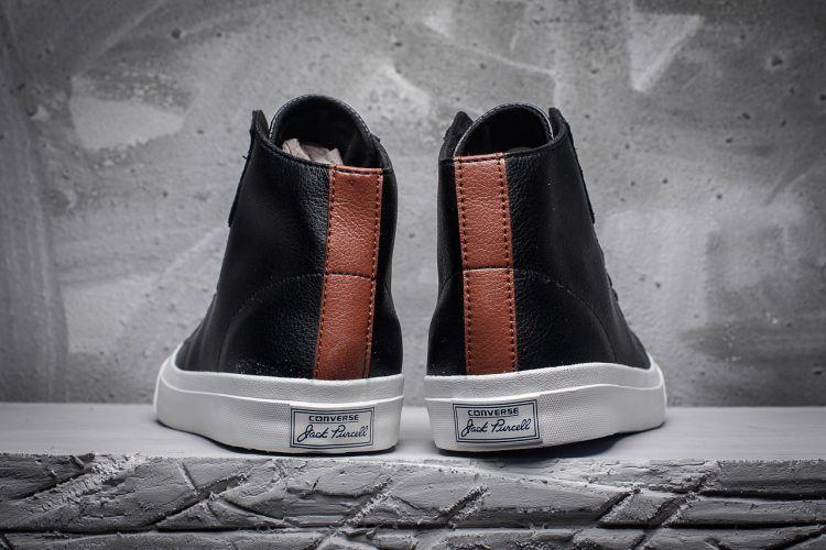 e38dc5e31604 Converse Jack Purcell LP L S Black Leather High Top Shoes  converse  shoes