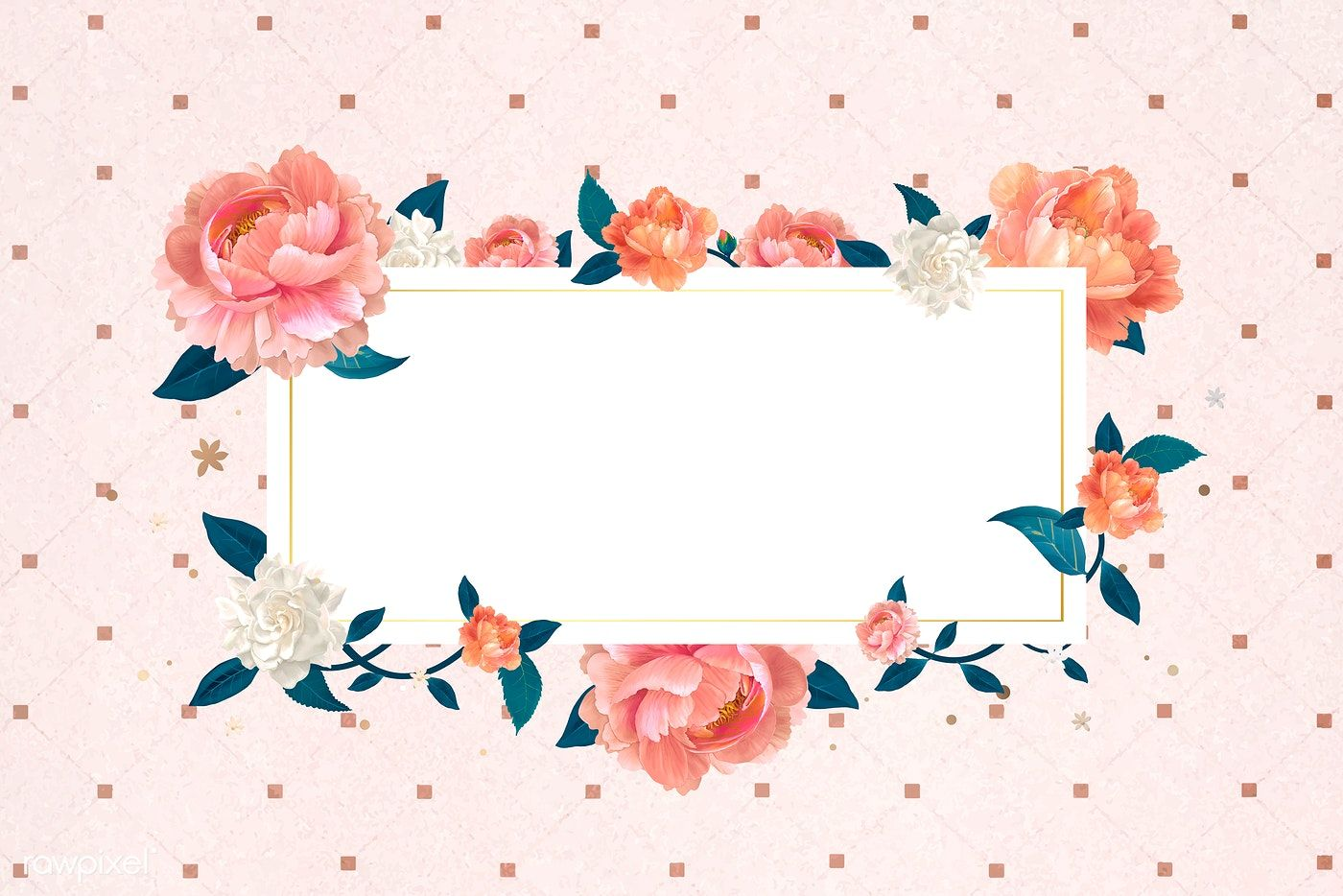 Download Premium Vector Of Blank White Floral Card Template Vector 680061 Floral Cards Flower Illustration Floral Banners