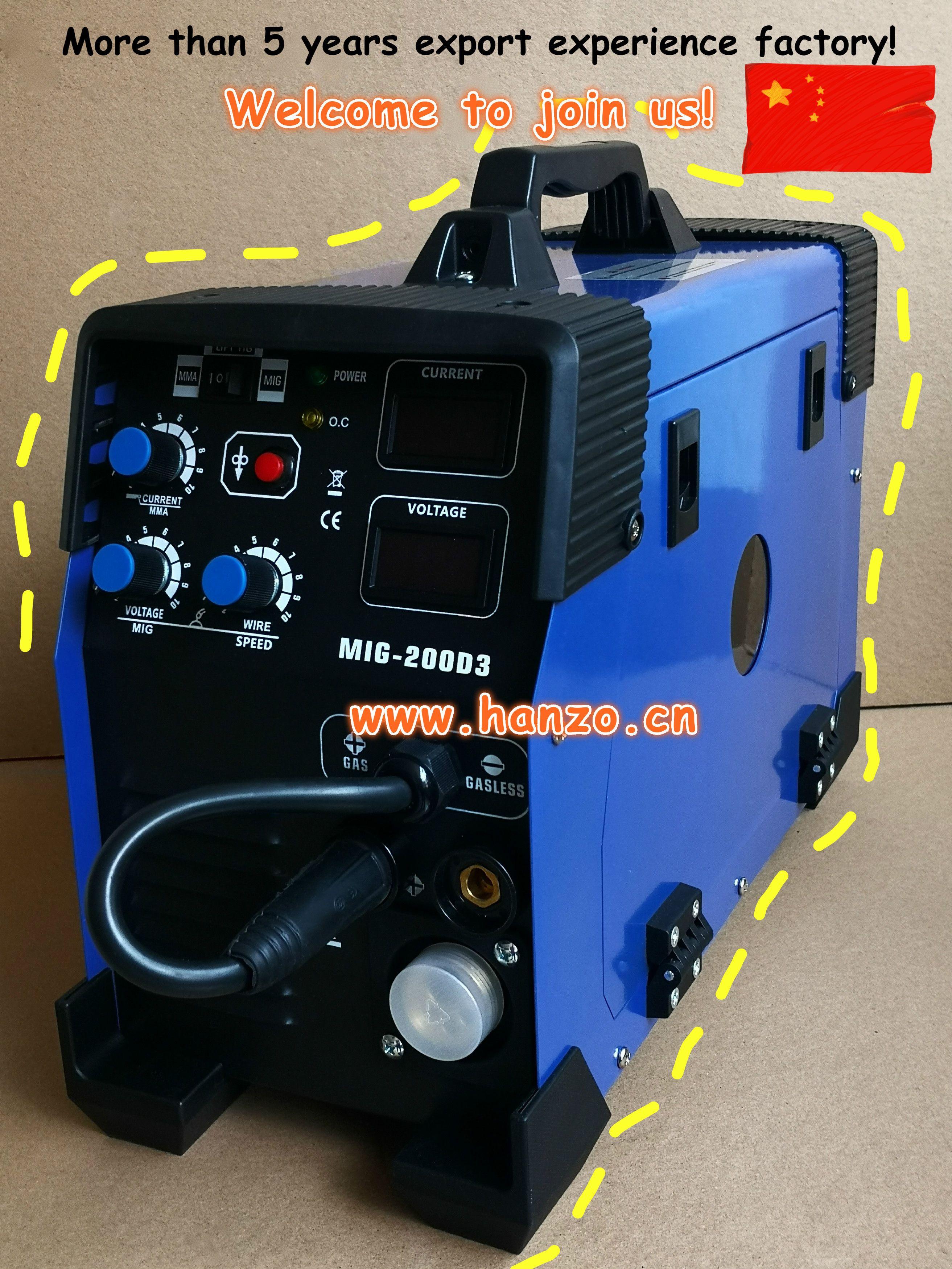 3in1 Mig 160 180 200 Welder Igbt Inverter Welding Machine Welding Machine Mag Welding Inverter Welding Machine