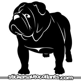 Pin By Katherine Johns On Bulldog Dog Silhouette Bulldog Art