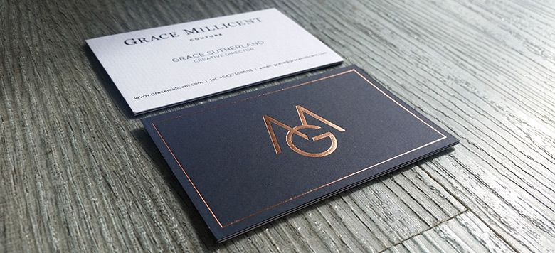 Foil Printed Business Cards New Zealand Fancy High End Busines Auckland